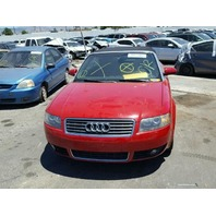 2004 A4 AUDI CONV 2DR/RED FOR PARTS