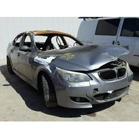 2008 535I BMW SDN 4DR/GREY FIRE DAMAGED FOR PARTS
