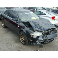 2008 A4 AUDI SDN 4DR/BLACK FRONT DAMAGED FOR PARTS