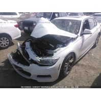 2014 BMW 328i White Right Front Damage For Parts