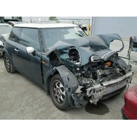 2004 MINI COPPER HTBK 2DR GREEN FRONT DAMAGED FOR PARTS