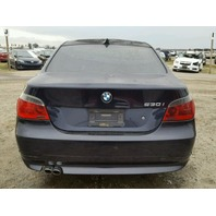 2006 530I BMW SDN 4DR/BLUE FIRE DAMAGE FOR PARTS