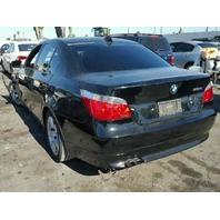2007 525I BMW SDN 4DR/BLACK FRONT DAMAGE FOR PARTS