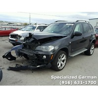 2008 BMW X5 4.8 black damage front for parts