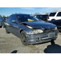 2001 BMW 330i 4dr  grey damage front for parts