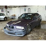 1996 M3 BMW CPE 2DR/PURPLE REAR DAMAGED FOR PARTS