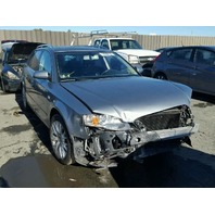 2008 A4 AUDI WGN 4DR/GREY FRONT DAMAGE FOR PARTS
