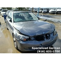 2009 BMW 528i grey damage front and rear for parts