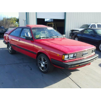 1984 Audi Coupe Red Damaged Rear