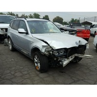 2010 BMW X3, 3.0L, a/t,silver, hit front