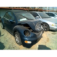 2004 Volkswagen Beetle Blue Convertible Damaged Front