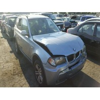 2006 BMW X3 Blue Damaged Front