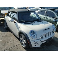 2007 Mini Cooper Convertible White Damaged Front