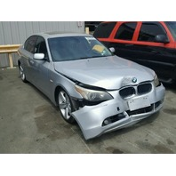 2004 BMW 525i Silver Damaged Front