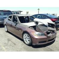 2007 BMW 328i Burgandy Sedan Fire Damage