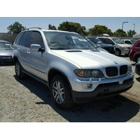 2005 BMW X5 Silver Damaged Undercarriage
