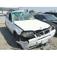 2006 BMW X3 White Damaged Front