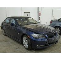 2011 BMW 335i Sedan Blue Damaged Front & Rear