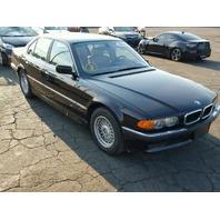 2000 BMW 740i Black Sedan Damaged Left Side
