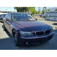 2006 BMW 750i Maroon Mechanical Damage