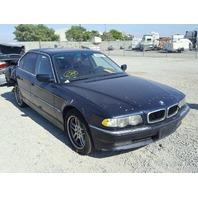 2001 BMW 740i Blue Damaged Rear End