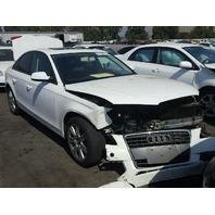 2011 Audi A4 Sedan White Damaged Front