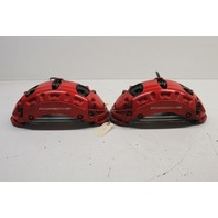 2008 Porsche Cayenne Turbo Front Brake Calipers Pair Set Red Brembo