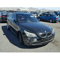 2008 BMW 535i Sedan Black Damaged Front