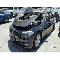 2011 BMW 528i, black, burn