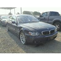 2008 BMW 750i Sedan Blue Damaged Right Side