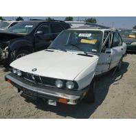 1988 BMW 535I, 4DR SDN,WHITE,HIT LH SIDE