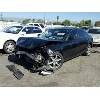 2009 Audi A4, a/t, AWD, black, hit front
