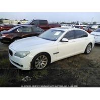 2009 BMW 750i, 4.4L,a/t, white, flood