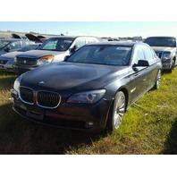 2012 BMW 750LiX, 4.4L,a/t, Black,  water flood