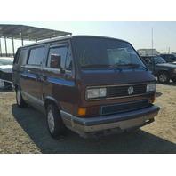 1990 VW Vanagon, 2.1L, m/t, Maroon, Interior burn