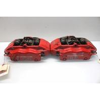 2008 Porsche Boxster S 3.4 987 Front Brake Caliper Pair Set Red Brembo
