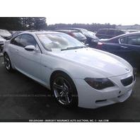 2007 BMW M6, E63, 5.0L, SMG, White, dash fire
