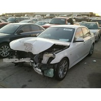 2010 BMW 528i, E60, 3.0,a/t,Sdn, White, hit front