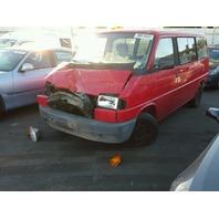 1993 VW Eurovan, 2.5L, m/t, Red, hit front