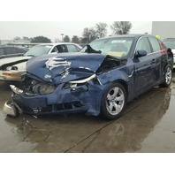 2005 BMW 525i, E60, 2.5L, a/t, Sdn, Blue, hit front