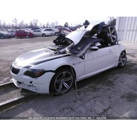 2007 BMW M6 E63 5.0L, SMG, White, hit rear