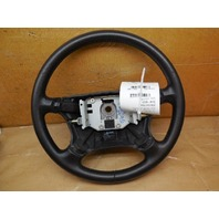 04 Saab 9-5 Black Leather Steering Wheel 4 Spoke