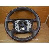 98 99 00 01 Audi A6 4 Spoke Steering Wheel Worn Leather