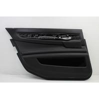 2009 BMW 750i Left Rear Door Panel Black Leather 51429161427