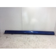 2013 Volkswagen Golf R left rocker moulding side skirt blue cracked scuff marks