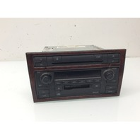 2004 2005 2006 2007 2008 Audi A4 AM FM CD Cassette radio Tuner With Wood Bezel