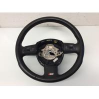 2008 Audi S4 Sedan 3 Spoke Perforated Leather Steering Wheel 8E0419091EJ