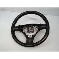 2003 2004 Audi TT Leather 3 Spoke Steering Wheel 8N0419091C Worn