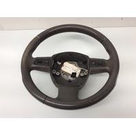 2007 2008 2009 Audi A4 3 Spoke Grey Leather Steering Wheel 8P0419091CN Worn
