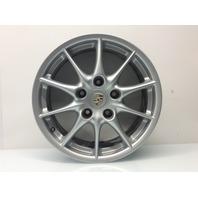 Porsche 911 996 aluminum front wheel 17x7 ET50 99636212402 has scuffs